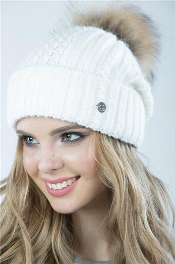 шапка М-357 белая