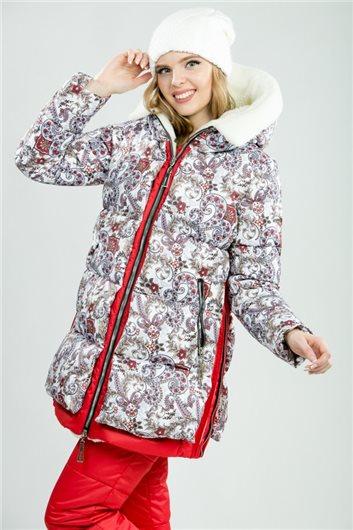 """Куртка М-3591""""Русская красавица"""" красная"""