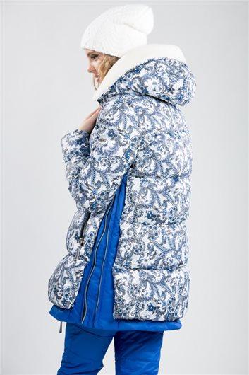 """Куртка М-3591""""Русская красавица""""василек"""