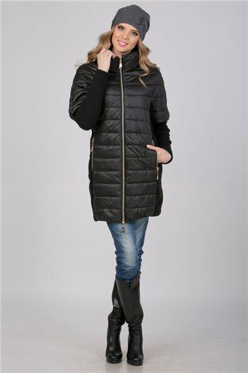 Пальто-трансформер М-1771 черное