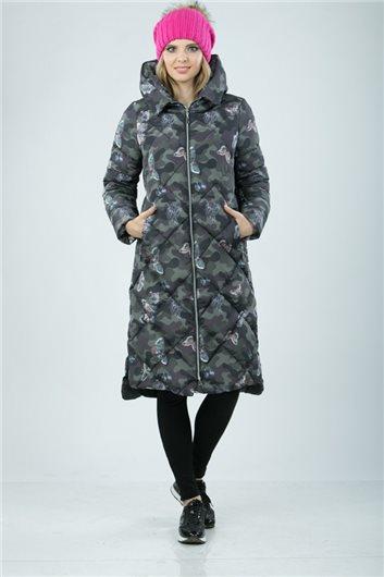 Пальто М-3422 Камуфляж хаки