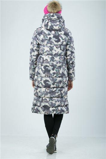Пальто М-3422 Камуфляж бежевый
