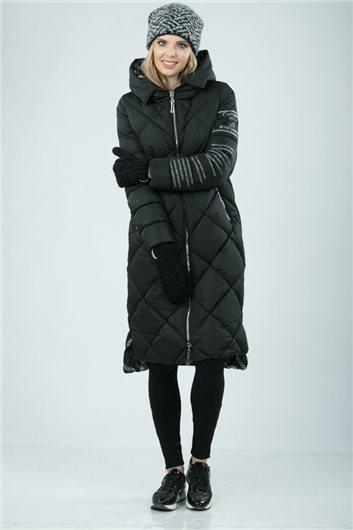 Пальто  М-342 черное