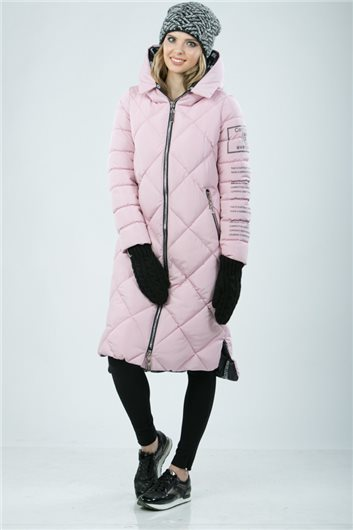 Пальто  М-342 розовое