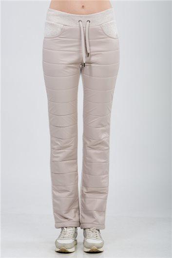брюки м-214меланж бежевый